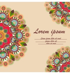 Greeting card with ornament mandala vector image vector image