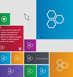 Honeycomb icon sign buttons Modern interface vector image vector image