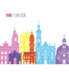Innsbruck skyline pop vector
