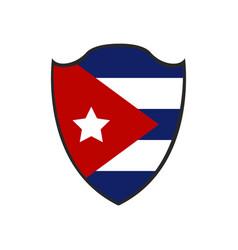 Isolated flag of cuba vector