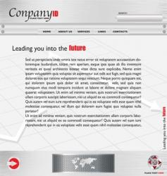 metal webpage vector image vector image