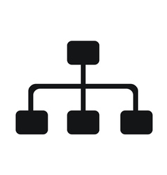 Network Graphs Icon vector image