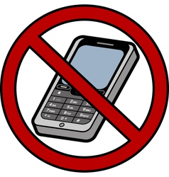 No mobile phones sign vector image