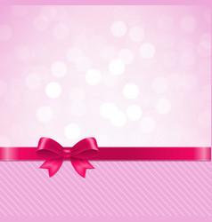 Pink bow bokeh vector