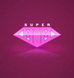 Pink super mom shield Super hero style vector image vector image