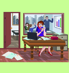secretary speaking on the phone vector image