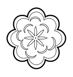 Single paint flower icon image vector