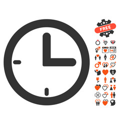 Time icon with dating bonus vector