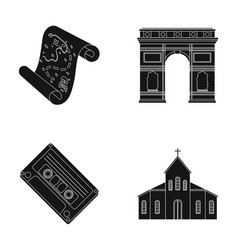 Travel art and or web icon in black style vector