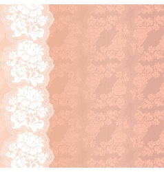 Flower pink on background vector image