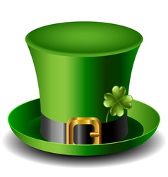 St Patricks day hat with clover vector image