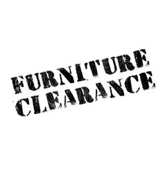 Furniture clearance rubber stamp vector
