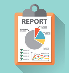 business report paper vector image