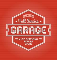 Garage Label vector image