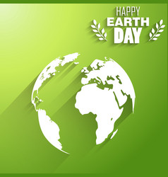 Earth day of background shape silhouettes vector