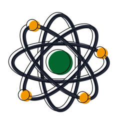 Atom scheme molecule particle science school vector
