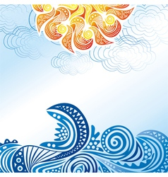 Beautiful sea wave vector image