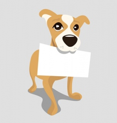 Dog with message paper vector
