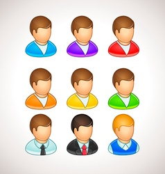 Colorful user icons different avatars vector