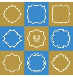 Set of abstract hipster logo badges frames vector