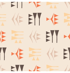 Seamless background with cuneiform vector