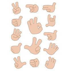 gestures collection vector image