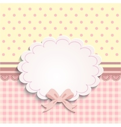 Card or label for little girls vector