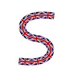 Letter s made from united kingdom flags vector