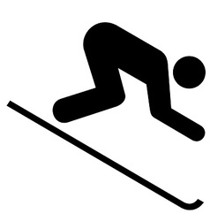 Downhill skiing symbol vector