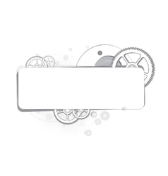 Abstract background of gears monochrome vector image