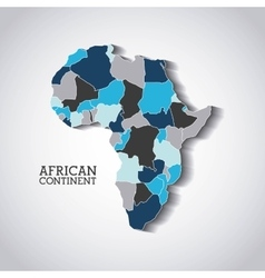 African continent design vector