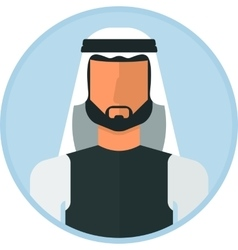 Arabic muslim man vector