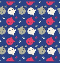 bright bear faces vector image