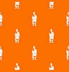 buddhist monk pattern seamless vector image vector image
