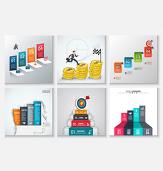 Business staircase infographics vector