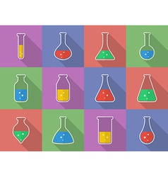 Chemical biological science laboratory equipment - vector image vector image