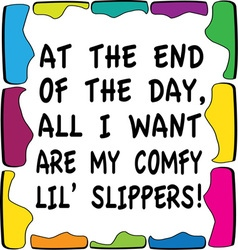 Comfy Slippers vector image vector image