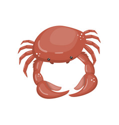 crab fresh seafood shellfish cartoon vector image