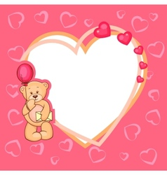 cute valentine teddy bear vector image