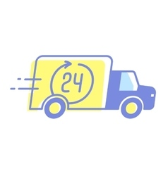 design car 24 hours delivery minimal vector image vector image