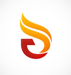 Fire abstract initial logo vector