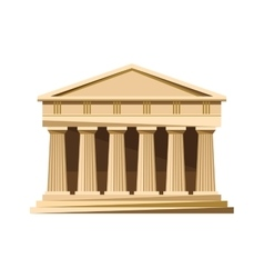 Greek temple icon isolated on white background vector image vector image