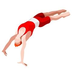 Gymnastics vault 2016 sports 3d vector