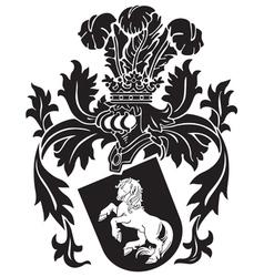Heraldic silhouette no9 vector