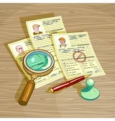 Human Resources Management Design vector image vector image