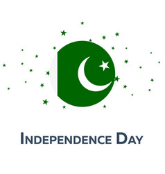 Independence day of pakistan patriotic banner vector