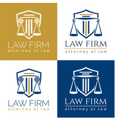 Law firm logo column vector