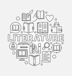 literature round vector image vector image