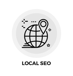 Local seo line icon vector