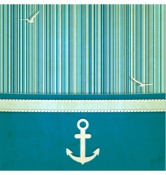 marine striped old background vector image